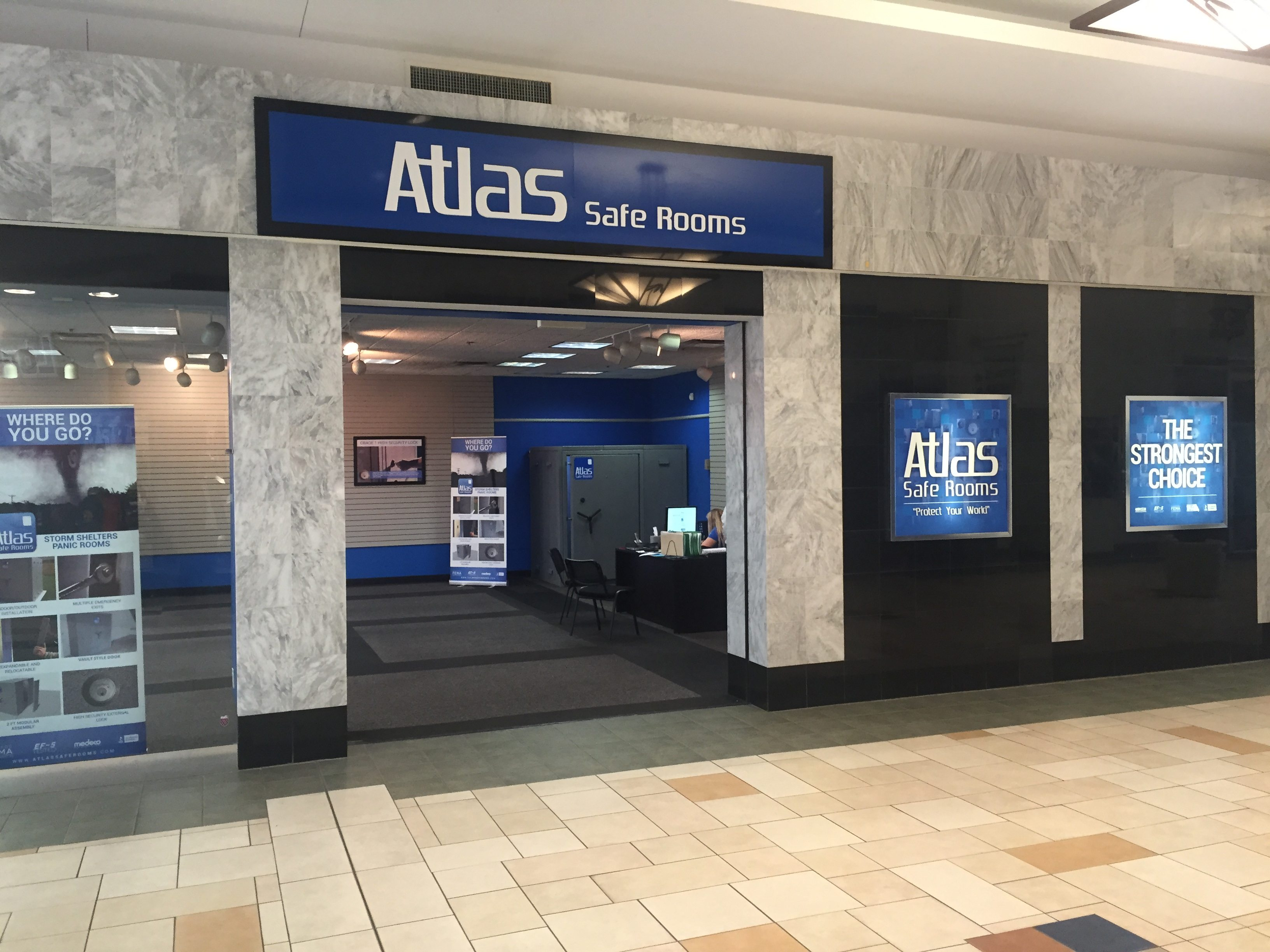 Storm shelters in edmond ok atlas safe room showroom for Safe rooms